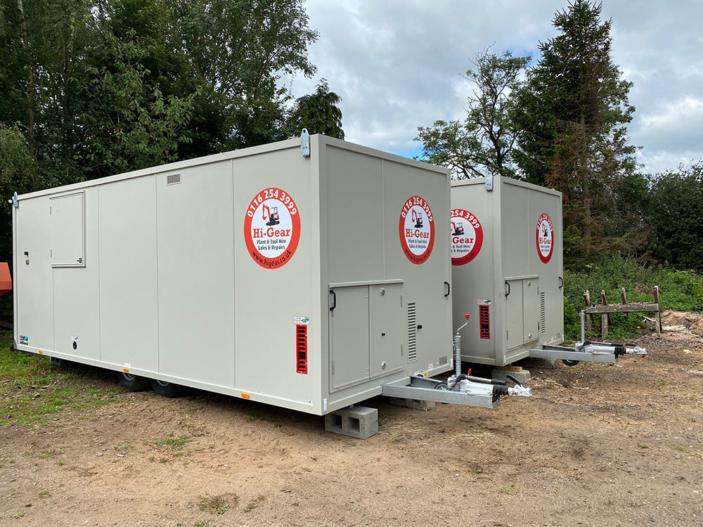 A Hi-Gear welfare unit with tow hitch